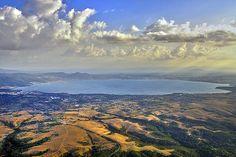 Lake Bolsena in the Province of Viterbo.