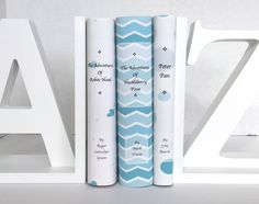 Blue Book Set  Decorative books  Adventure by ArtfulLibrary