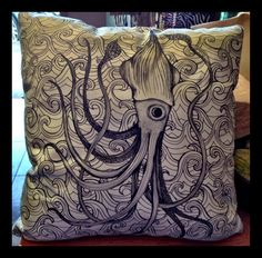 The giant Squid pillow at Nohealani Boutique in Paia, Hawaii.
