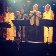 Celebrating 50 years of friendship, all four members of ABBA reunited on stage on 5 June 2016 for their first public performance in 30 years.