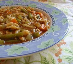 Green Beans Soup Recipe Ingredients: 1 lb green beans lb onions 1 lb turnips 2 carrots 2 celery sticks 1 teaspoonful mixed herbs oz parsley 1 oz butter 2 quarts of water salt and pepper, to. Chowder Recipes, Soup Recipes, Vegetarian Recipes Easy, Healthy Recipes, Hot Soup, Bean Soup, Cheap Meals, Soups And Stews, Green Beans