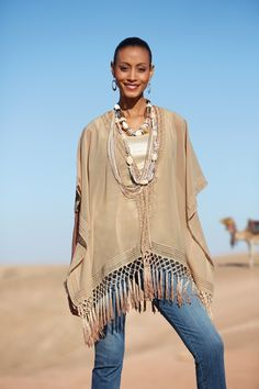 Artful Accents #chicos - Like the fringe.  Overall Chicos is too pricey imo, but comparable pieces can be found elsewhere!!