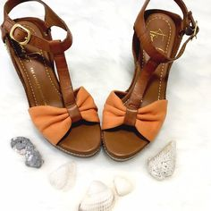 NWOT Franco Sarto Espadrille Wedges The perfect shoe for summer fun! Solid wedge heel, adorable bow shaped toe, T-strap with ankle buckles. Soles perfect, no marks, scratches, or flaws! Franco Sarto Shoes Wedges