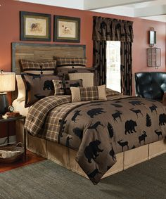 Croscill Summit Bedding The rustic palette of the Summit bedding collection will bring a certain uniqueness to any room. The striking combination of the animal pattern applied at the base of the comforter with the woven plaid creates the feeling of a tranquil cabin retreat. The comforter is trimmed with a faux suede ribbon and toggles.