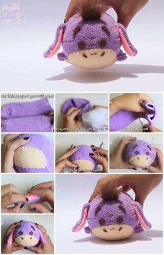 Socks Sock Crafts, Cute Crafts, Creative Crafts, Felt Crafts, Fabric Crafts, Easy Crafts, Disney Diy, Disney Crafts, Sewing Toys
