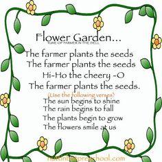 Flower Begins to Grow Preschool Childrens Song - Growing Seeds