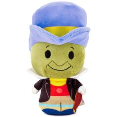 "Wish upon a star and listen to your conscience—it's sure to lead you to this fun plush version of Jiminy Cricket from the Disney classic ""Pinocchio."" itty bittys® are so fun to collect that you'll want to own each and every one of these perfectly-sized companions."