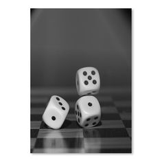 "East Urban Home Cube Dice Hobby Game Photographic Print Size: 24"" H x 18"" W"