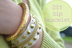 DIY zip bracelet with studs « Born in 82 – Fashion and Creativity Blog