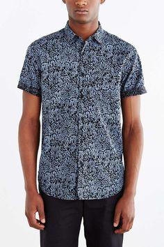 3f997175db Your Neighbors Short-Sleeve Kieran Printed Button-Down Shirt