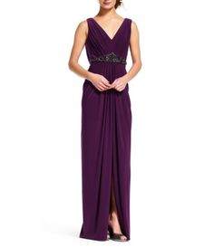 Shop for Adrianna Papell V-Neck Draped Back Jersey Gown at Dillards.com. Visit Dillards.com to find clothing, accessories, shoes, cosmetics & more. The Style of Your Life.