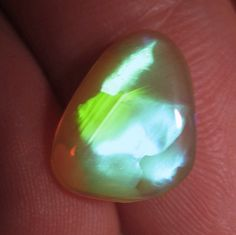 Rare Natural 3ct Welo Opal Neon Brush Stroke Pattern by Paleospark