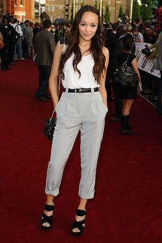 these high-waisted trousers would be a fun change for work