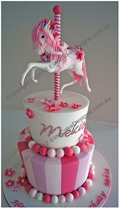 Carousel Horse Christening Cake, Christening Cakes Sydney, Christening Cake Designs, Communion Cakes, Baptism Cakes, Christening Cakes for girls and boys, NSW
