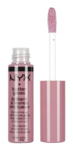 Eclair NYX Butter Gloss.// my favorite lip gloss!! I wear it with either a brown or purple lip liner