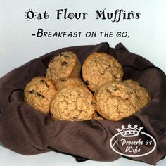 Oat Flour Muffins ~Gluten Free Breakfast on the Go
