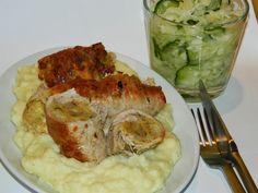 Csont nélkül...csak egyszerűen: Töltelékkel göngyölt karaj Bors, Chicken, Recipes, Recipies, Ripped Recipes, Cooking Recipes, Cubs, Medical Prescription