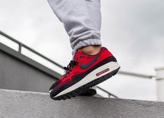 hot sale online 79c71 be612 Nike Air Max 1 -  Red Crush  Uni Red, Grey   Midnight Navy
