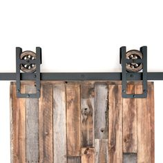 This is a BEAUTIFUL rustic industrial steel Square Horseshoe sliding barn door…