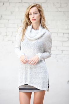 We're Tight Knit Cowl Neck Sweater