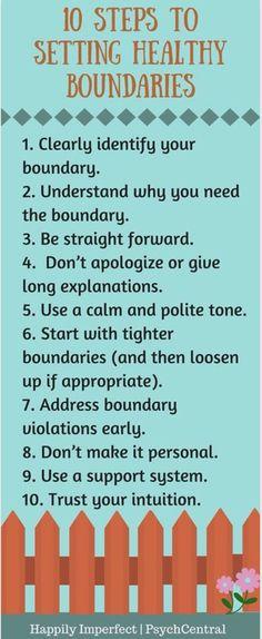 Healthy boundaries.