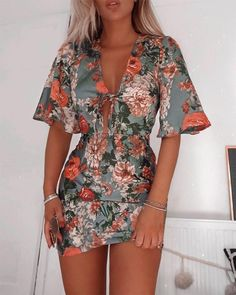 Adorable Outfit Ideas - 2 — Marie's Looks Cute Casual Outfits, Casual Dresses, Summer Outfits, Summer Dresses, Casual Clothes, Cute Dresses, Short Sleeve Dresses, Mini Dresses, Look Star