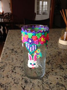 Turned a plain vase into a totally fun Easter themed decoration! When I'm ready for a change I can just peel off the #dohvinci and start again!