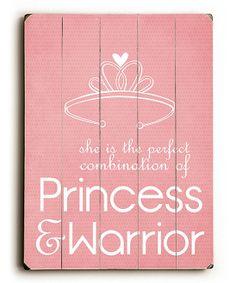 'Princess & Warrior' Wall Art