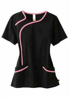 (Limited Supply) Click Image Above: Urbane Sport Stretch Contrast Trim Scrub Top. Healthcare Uniforms, Medical Uniforms, Work Uniforms, Spa Uniform, Scrubs Uniform, Scrubs Pattern, Stylish Scrubs, Cute Scrubs, Scrubs Outfit