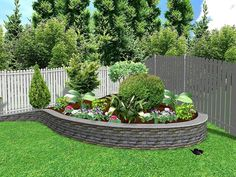 Do you wish to have a beautiful, elegant garden properly maintained in a fresh, luxurious manner? Then search no further, here is the perfect idea. Maintain the lush green grass of the garden, adorn the corner of the garden with lush, rich bushes and flowers and guard the garden with an elegant white wooden fence.