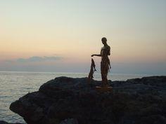 paper mache fisherman 180 cm
