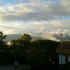 un giardino in diretta: Voila', la neve! #giardinoindiretta