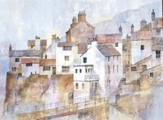 Staithes across the beck - watercolour Posted by Malcolm on 11 Feb 2010