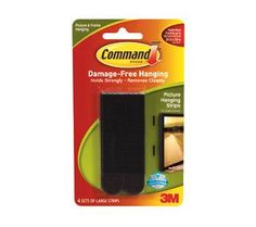 3M Command Large Picture Hanging Strips Black 4/ pk>>>For Arts and craft center<<< for chalkboard