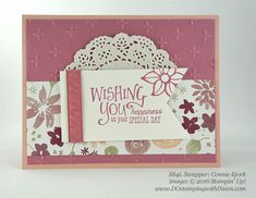 Stampin' Up! Blooms & Bliss swap cards shared by Dawn Olchefske #dostamping (Connie Bjork)