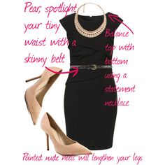 how to wear a LBD with a pear shaped body