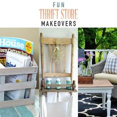 Fun Thrift Store Makeovers - The Cottage Market Farmhouse Style, Farmhouse Decor, Mint Paint, Outdoor Sofa, Outdoor Decor, Home Hacks, Wall Shelves, Dog Bed, Old Houses