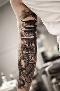 15 Architectural Tattoos That Turn Bodies Into Blueprints