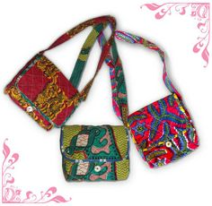 this gigantic bag is made with colorful african wax print fabric