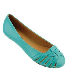 Turquoise Johana Flat by Red Circle Footwear #zulily #zulilyfinds