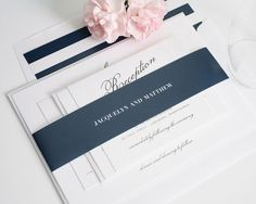 wedding invitations navy and blush - Google Search