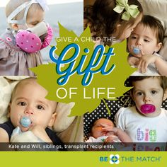 Kate is not the only transplant recipient in her family. Her brother Will has the same genetic disease and received a marrow transplant this summer. Read more about Kate and Will and the heartache their parents faced when they learned both of their children would need help from a stranger to save their lives. http://www.bethematchblog.org/2013/10/twice-the-heartache-twice-the-gratitude/