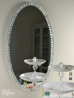 DiY~Glass bead mirror: