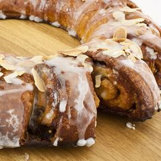 A Delicious recipe for a sweet and sticky cinnamon roll wreath. This is a fun and yummy treat.. Cinnamon Roll Wreath Recipe from Grandmothers Kitchen.