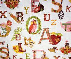Alphabet cookery fabric. . . yeah right.  Lovvvve iiiiit.