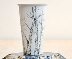 Prêt à expédier - Mug de voyage en céramique peinte respectueux de l