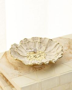 Shop Anemone Catch All from Michael Aram at Horchow, where you'll find new lower shipping on hundreds of home furnishings and gifts. Gold Home Accessories, Anemone Flower, Clay Design, Cold Porcelain, Clay Projects, Clay Crafts, White Enamel, Clay Art, Ceramic Art