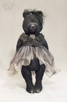 Hurricane By Olga Vishnevetskaya - One of a kind teddy bear named Hurricane.Materials and technologyPattern uniquely designed by the creator German viscose fur Glass eyes Entirely hand sewn Stuffed with cedar sawdust and woodwool Tinted by oil paints Fur finished by bee wax for «age effect»<...