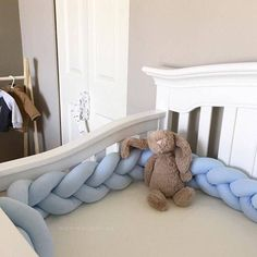 Plush Braided Cushion  Crib Bumper