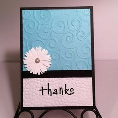Thanks! Card in aqua blue, black and white